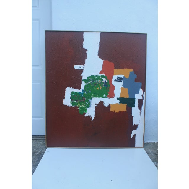 Mid-Century Modern Abstrac Expressionist Painting - Image 2 of 11