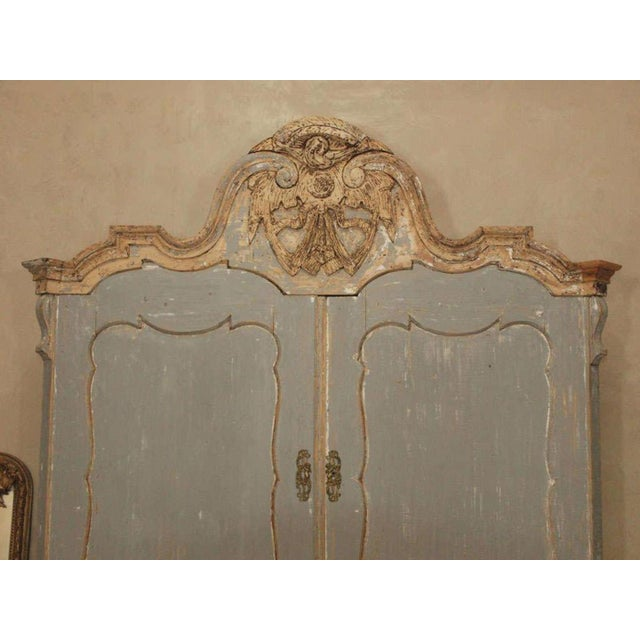 19th C Dutch Painted Buffet Deux Corp - Image 10 of 11