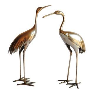 Vintage Brass Cranes