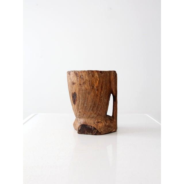 Image of Antique Wood Mug Vessel
