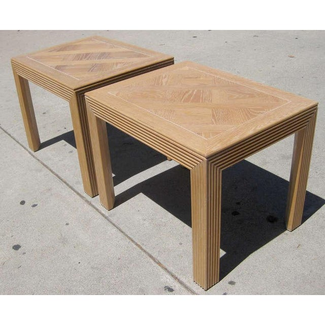 Parquet Top Sides Tables by Lane - Pair - Image 5 of 6