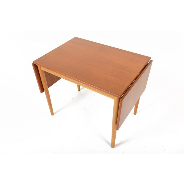 Borge Mogensen Teak Oak Drop Leaf Coffee Table Chairish
