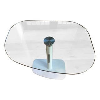 Italian Designer Adjustable Glass Table