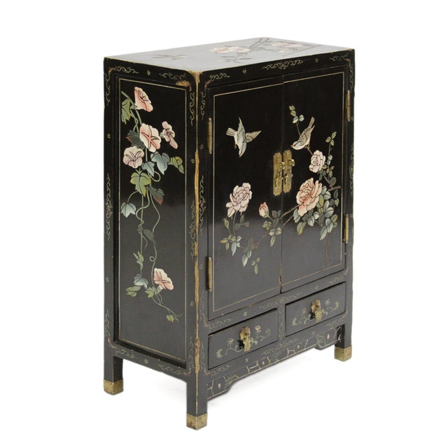 Image of Vintage Asian Painted Nightstand
