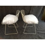 Image of Vintage White Wire Knoll Chairs - A Pair