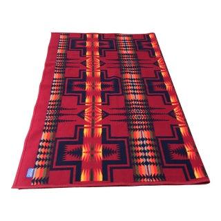 Vintage Southwestern Patterned Pendleton Blanket