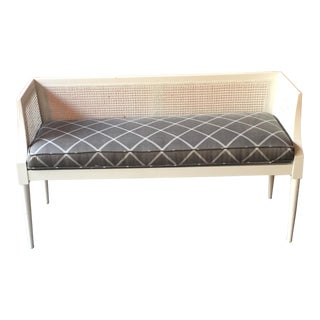 Diamond Pattern Cane Bench