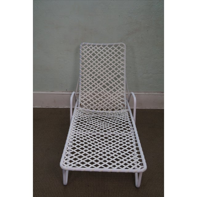 brown jordan tamiami white patio chaise lounge chairish