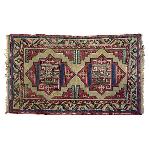 Turkish Hand-Knotted Wool Rug - 6′5″ × 4′3″ - Image 6 of 6
