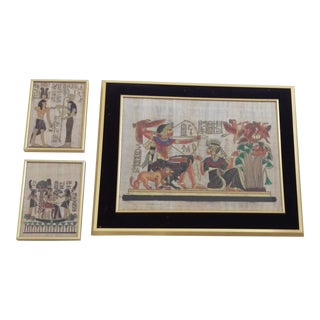 Framed Egyptian Artwork - Set of 3