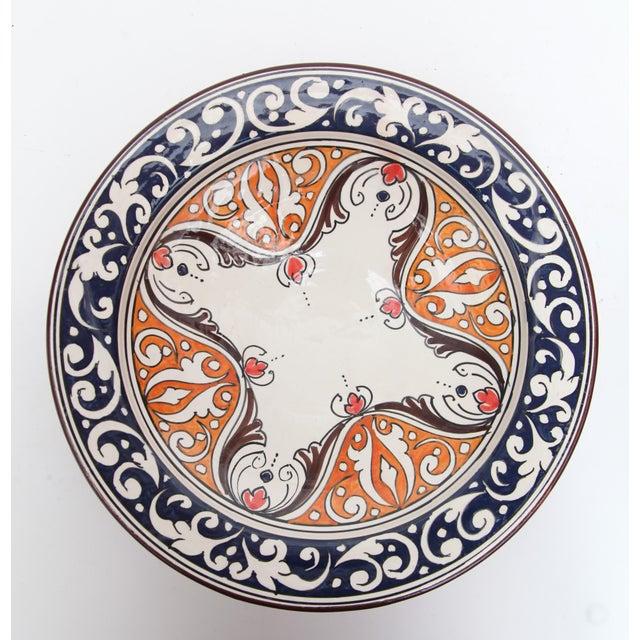 Image of Atlas Navy & Orange Ceramic Plate