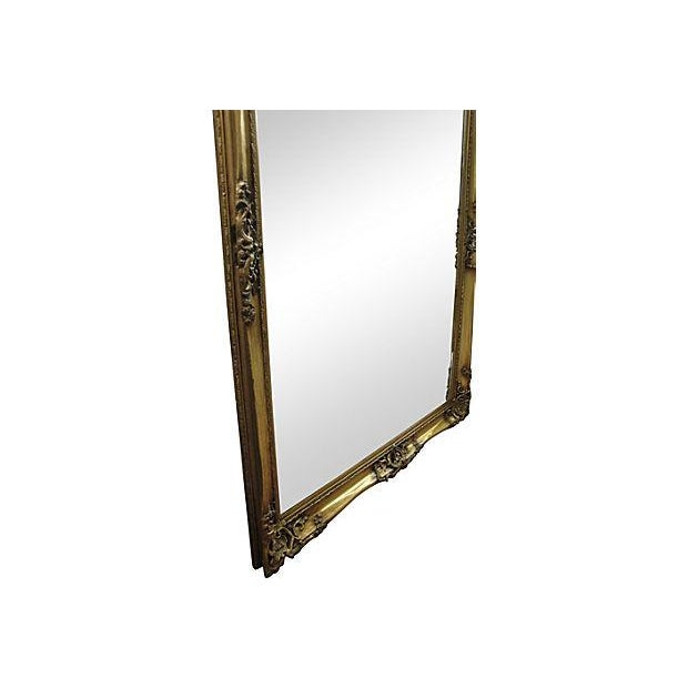 Image of Gilt Solid Oak Mirror