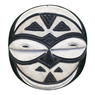 Authentic Black & White African Mask