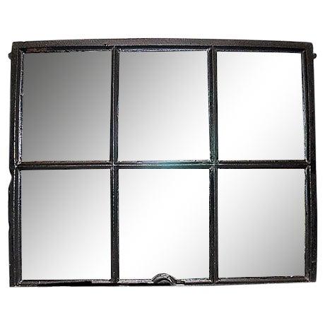 Iron Framed Mullion Mirror - Image 1 of 5
