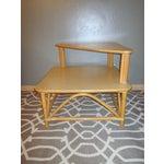 Image of Tiki Rattan Bamboo Side Corner Tiered Table