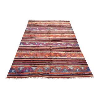 """Vintage Turkish Kilim Rug -- 5'3"""" x 8'9"""""""
