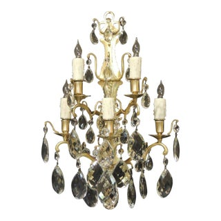 Pair of 19th C Baccarat-Quality French Crystal Sconces