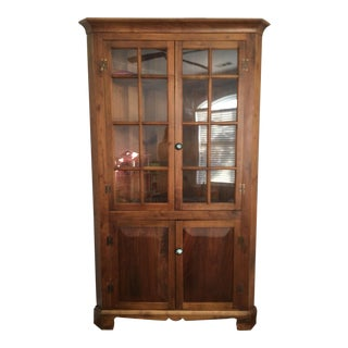 Walnut Corner Cupboard