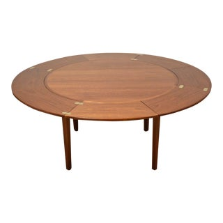 "Danish Extension Dyrlund ""Flip Flap"" Dining Table"