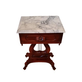 Victorian Marble Top End Table