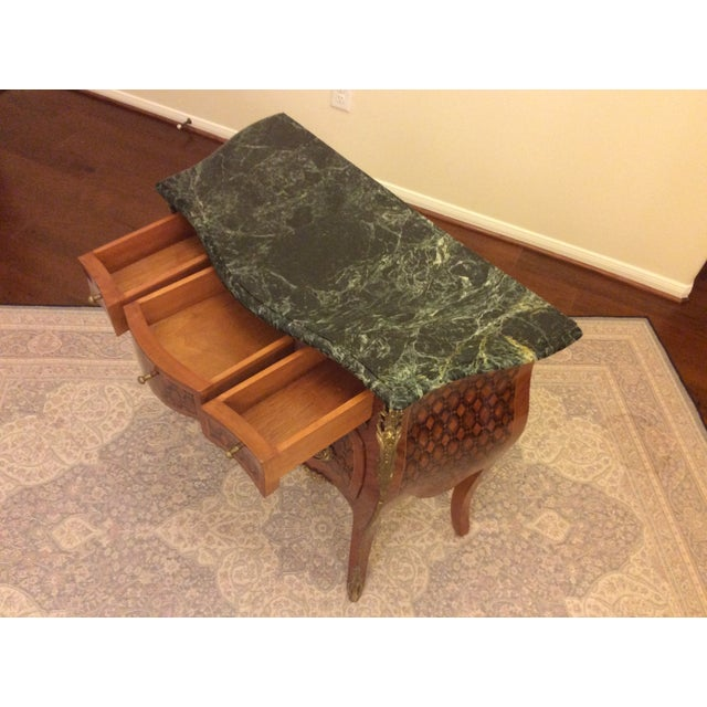 Image of French Louis Style Marble Top Cabinet Chest
