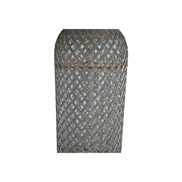 Image of Vintage Seltzer Bottle With Wire Mesh