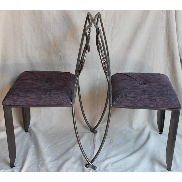 "Randall Kramer ""Silverware"" Chairs - A Pair - Image 3 of 8"