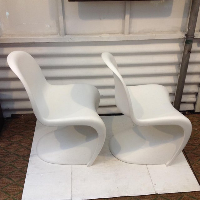 verner panton stuhl chairs a pair chairish. Black Bedroom Furniture Sets. Home Design Ideas