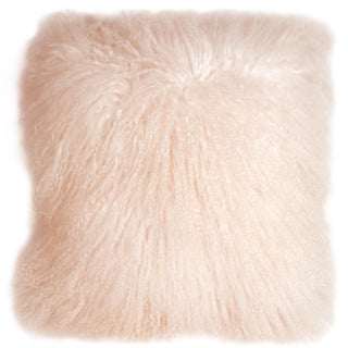 Pastel Pink Mongolian Sheepskin Pillow