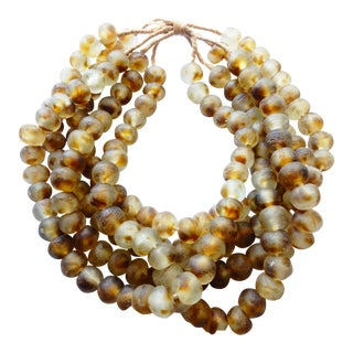 African Jumbo Glass Trade Bead Strands,S/5 160 Beads