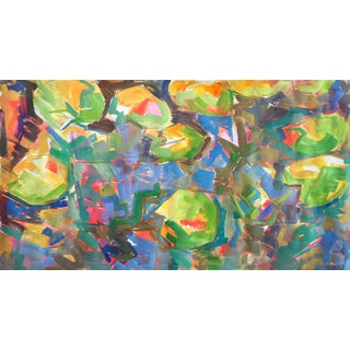 "Large Abstract Painting by Trixie Pitts ""Waterlilies 4"""