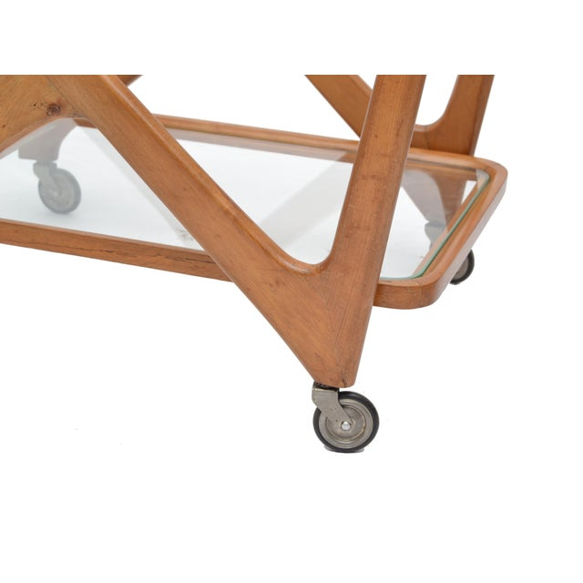 Cesare Lacca Wooden Bar Cart for Cassina, Italy - Image 7 of 8