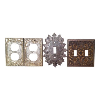 Mid-Century Modern Decorative Switch Outlet Covers - Set of 4