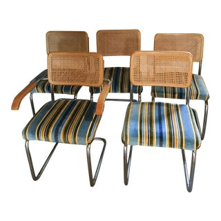 Cesca Style Woven Cantilever Chairs - Set of 5