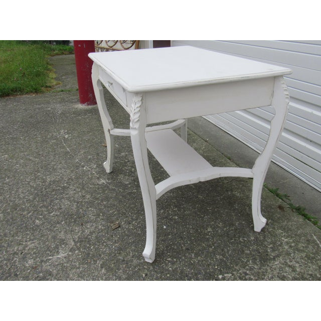 Vintage French Shabby Chic Style Desk - Image 4 of 7