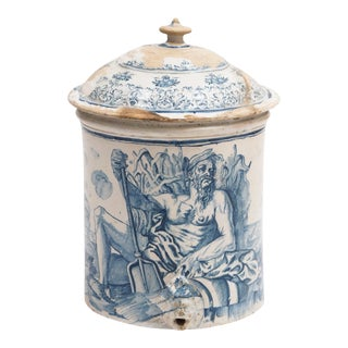 Large Blue and White 18th Century Faience Lavabo