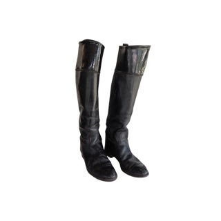 Black Leather Equestrian Boots