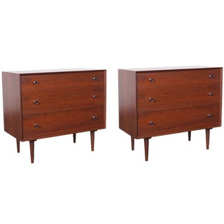Vintage Walnut Chest of Drawers by Robert Baron