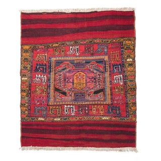 Vintage Turkish Tribal Rug - 3′3″ × 3′11″