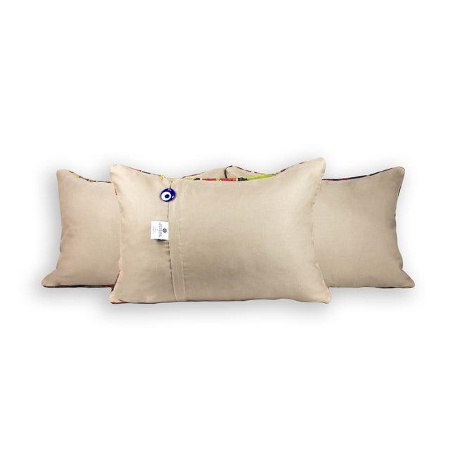 Matching Lumbar Kilim Pillows - Set of 3 - Image 3 of 3