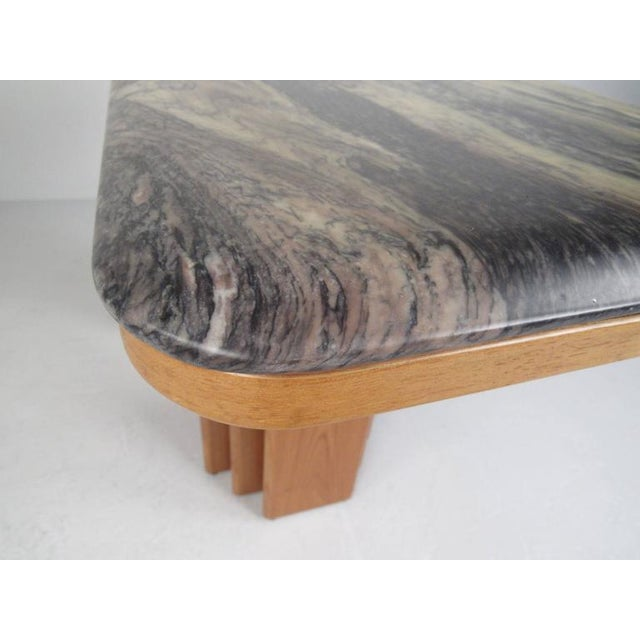 Mid-Century Teak and Marble Console Table by Bendixen Design - Image 7 of 11