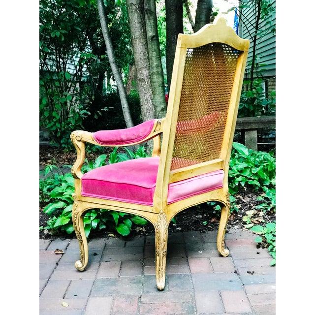 Hollywood Regency Vintage Chair With Velvet Upholstery
