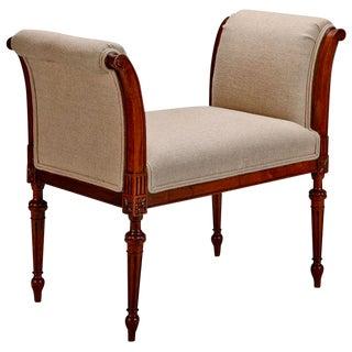 French Upholstered Beechwood Stool