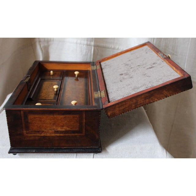 Tunbridge Ware Sewing Box - Image 9 of 9