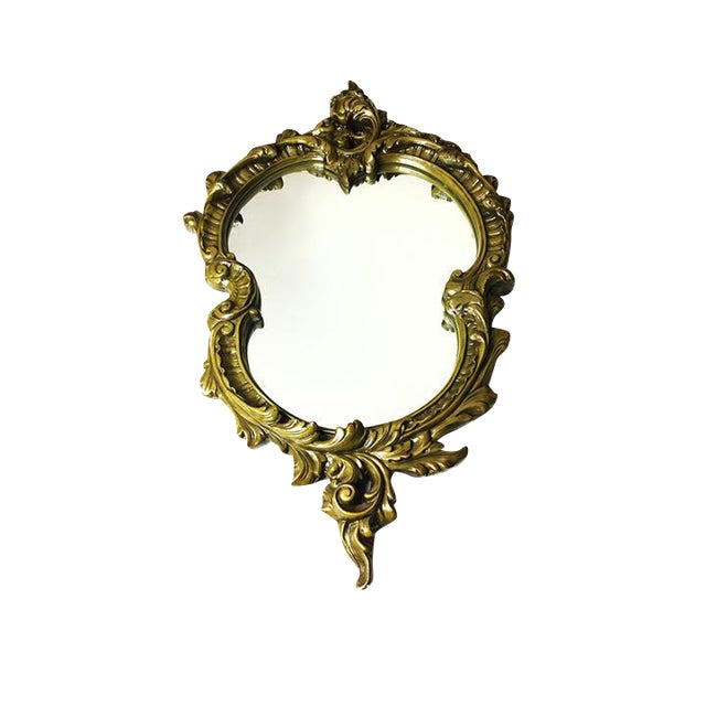 Vintage Hand Sculpted Plaster Italian Mirror - Image 1 of 5