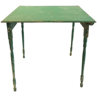 Turquoise Primitive Folding Table