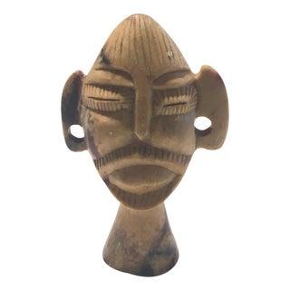 Vintage Brown Primitive Marble Stone Tribal Figure