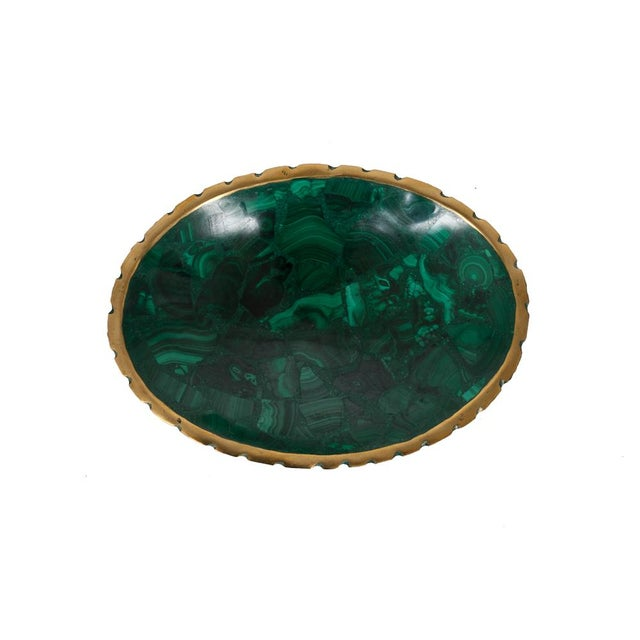 Image of Small Oval Malachite Bowl