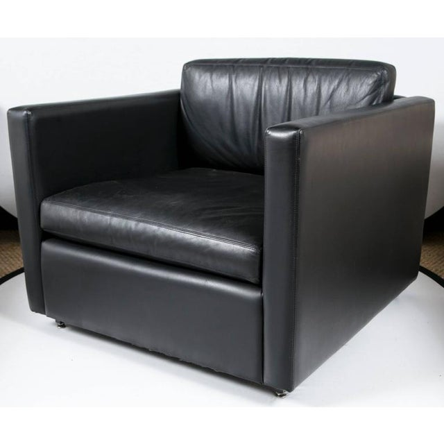 Pfister Lounge Chair in Black Leather - Image 2 of 7