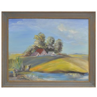 California Delta Farm Painting